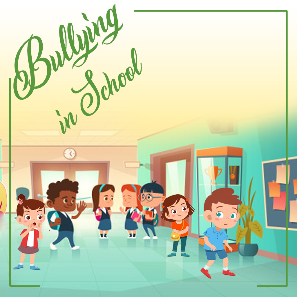bach flower remedy in bullying in school illustration